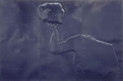 "Enzo Cucchi  ""Untitled""  Black metal (3 parts)  1989"