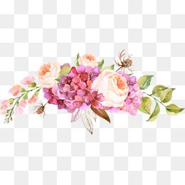 الزهور الوردية