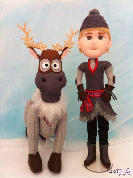 Frozen - Sven and Kristoff #frozen #felt #feltro