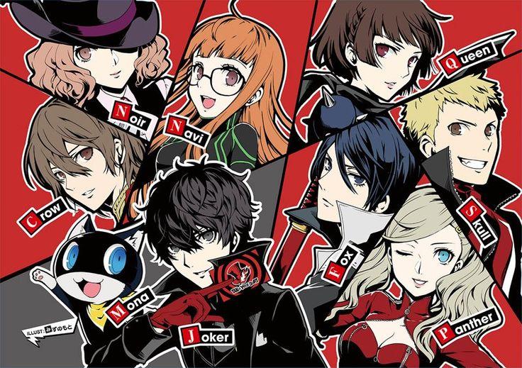 Persona 5, Phantom Thieves, Joker - except Futaba is 'Oracle', not Navi