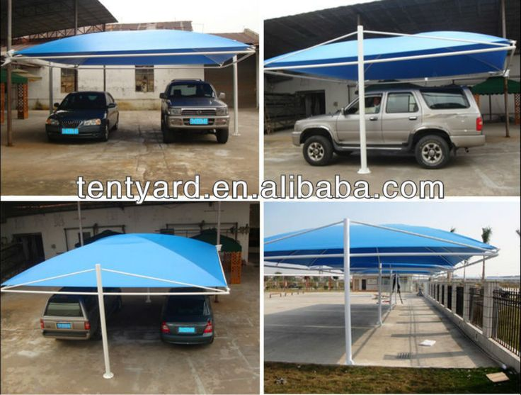 Source blue PVC car shed for 2 car on m.alibaba.com
