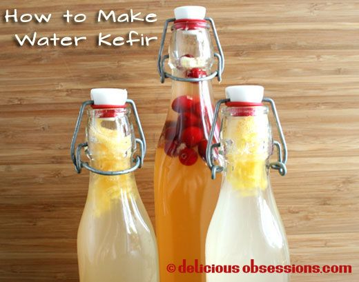 How to Make Water Kefir using fresh Water Kefir Grains - Probiotic fermented beverage // deliciousobsessions.com
