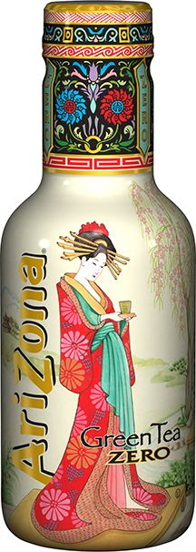 Arizona Green Tea Zero, One of the prettiest Arizona Tea bottles  #packaging PD