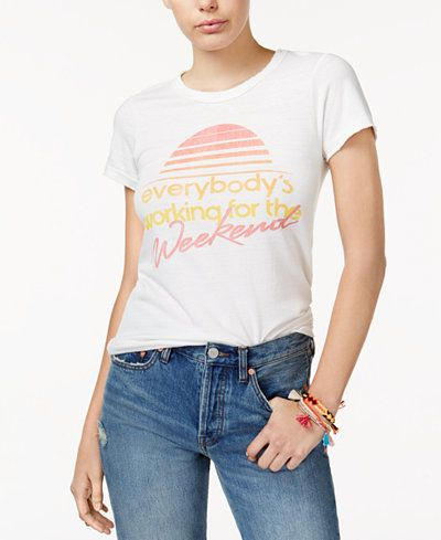Junk Food Cotton Working for the Weekend Graphic T-Shirt