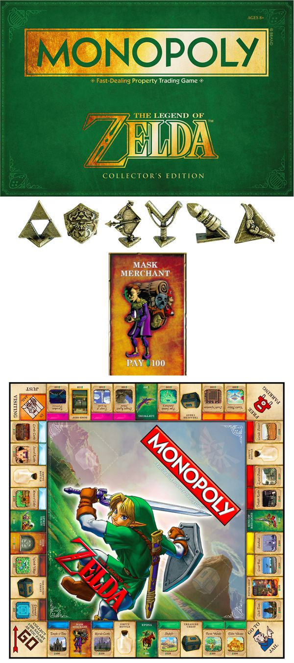 how to set up monopoly zelda special edition