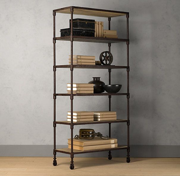Dutch Industrial Shelving Living Room