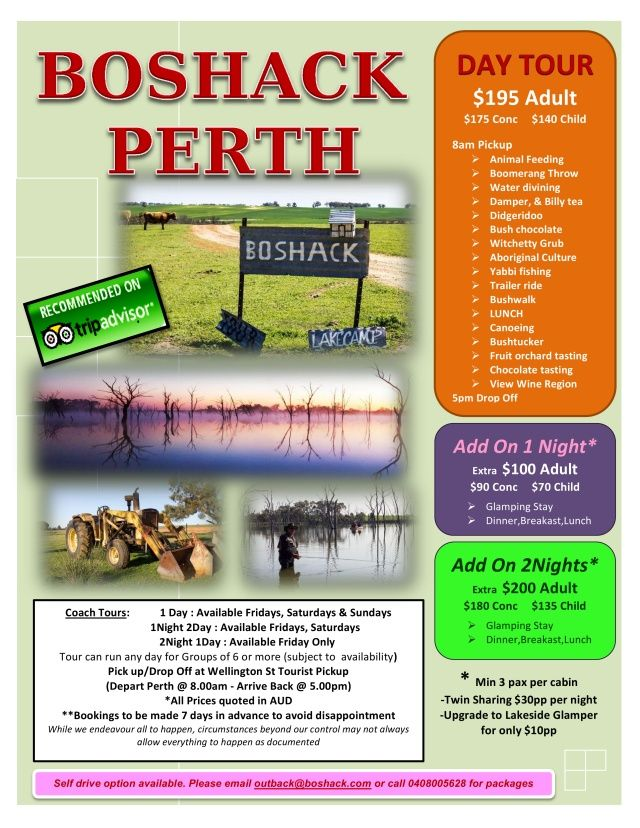 If you're looking for things to do in Perth, why not try our Perth day tour. Experience the real Australian outback.