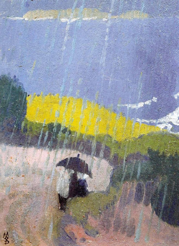 Maurice Denis (French, 1870-1943) Pluie en Bretagne, 1889. Oil on canvas.