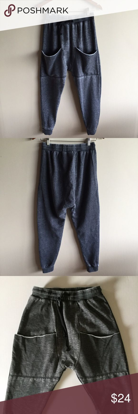 """Electric Yoga harem jogger pants Super cute and comfy harem sweatpants in grey. Drawstring waist and big front pockets. Great condition! 14"""" across waist, 16"""" rise, 25"""" inseam. Electric Yoga Pants Track Pants & Joggers"""