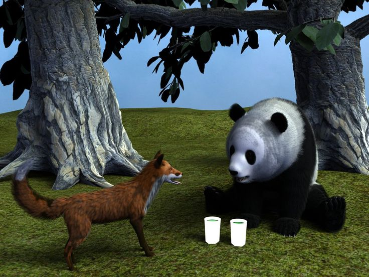 The Fox and the panda are friends by Lord-Crios.deviantart.com on @DeviantArt