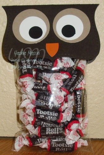 Fall gift/Halloween gift...not going to lie, most kids HATE tootsie rolls. I would put something else in.