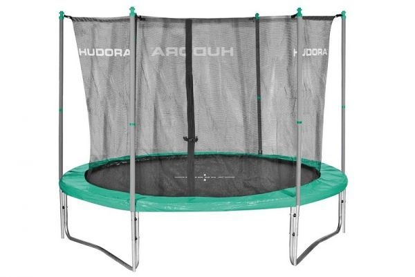 Hudora - Fitness Trampolin 300V, grau/grün