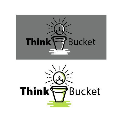 think bucket logo design