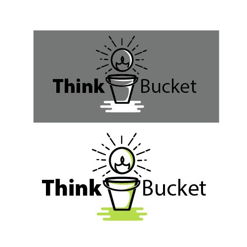 think bucket logo design