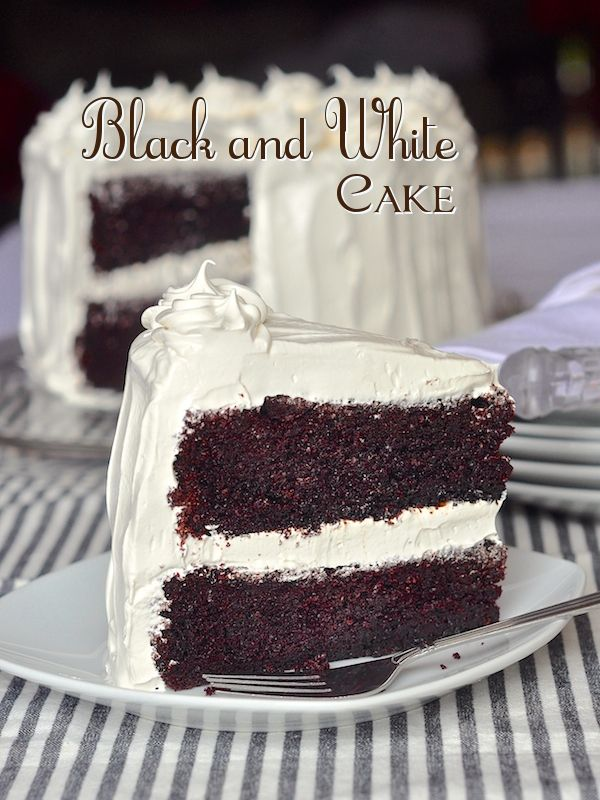 Black and White Cake | Recipe | Marshmallow Frosting, Frostings and ...