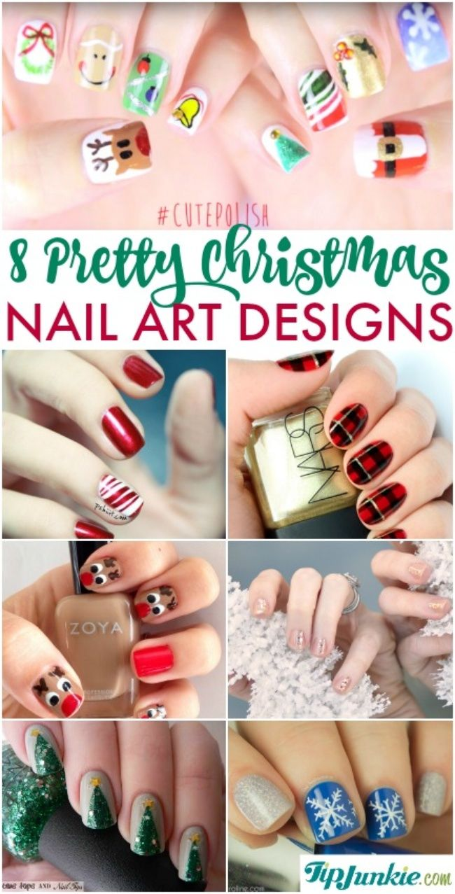 8 Pretty Nail Art Designs for Christmas-jpg