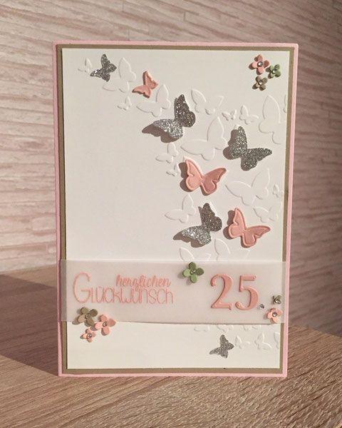 ... individuelle und handgemachte Grüße zum Geburtstag Deiner Lieben. (Inklusive passendem Umschlag und weißem Einlegeblatt bei allen farbigen Karten)