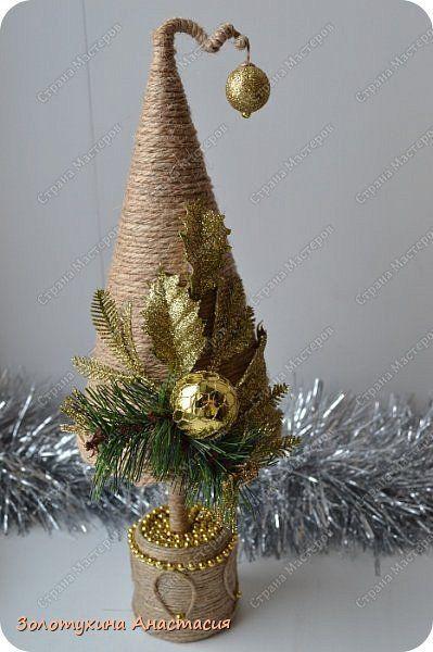 Декор предметов Поделка изделие Новый год Декупаж Картонаж Лепка Подготовка к Новому году Гипс Картон Клей Шпагат фото 9: