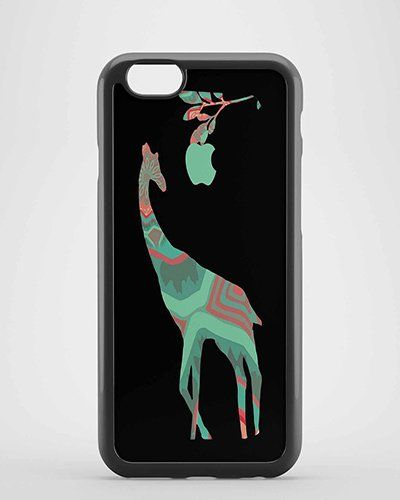 Patchwork Giraffe in Mint and Coral Apple for iPhone Case ,Samsung Case,Ipad case etc