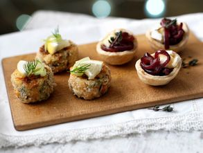 These vegetarian nibbles are wickedly addictive and just perfect as canapés at a drinks party
