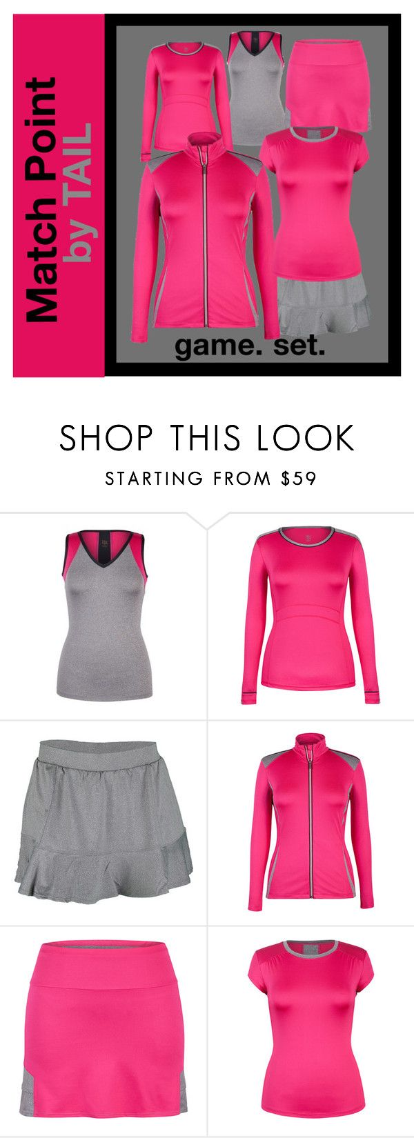 """New Women's Tennis Gear by TAIL"" by tennisexpress Match Point Collection"