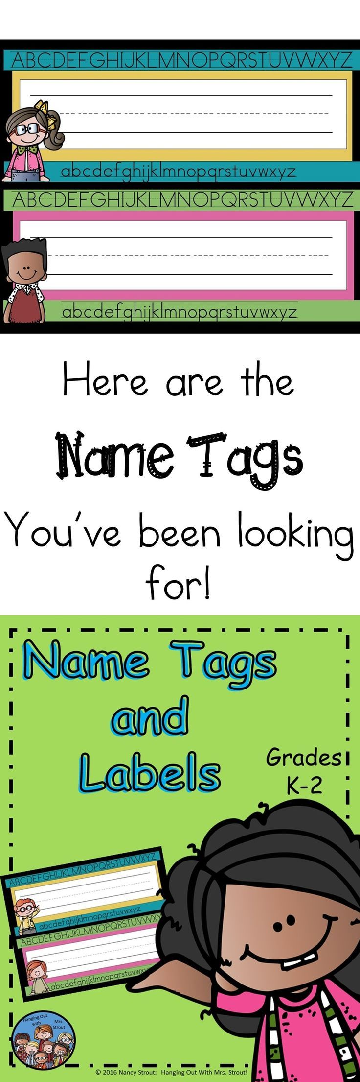 Here are some name tags for your classroom. Just copy onto tagboard and write your students names on them. Laminate and they are ready to use. You can use them on desktops, in the hallway on top of their hooks, and in their cubbies. Just print as many as you need for the students you have. Also included are stars to decorate a bulletin board or your door and welcome bookmarks. Each set is done for 3 grade levels: Kinder Kids, First Grade Friends, Second Grade Stars