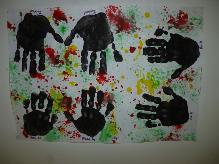 NAIDOC hand prints and paint spray
