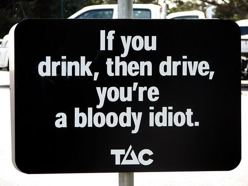 The Drink-Drive Warning. | 47 Signs You'll Only See In Australia