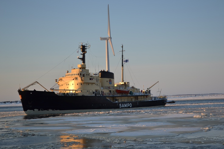 Sampo icebreaker. Photo Aila Ruonansuu