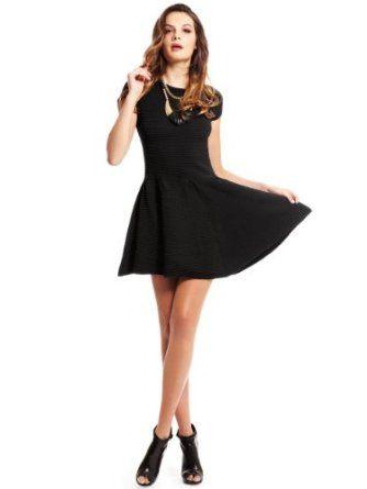 GUESS by Marciano Women's Claudette Sweater Dress, JET BLACK (XS)