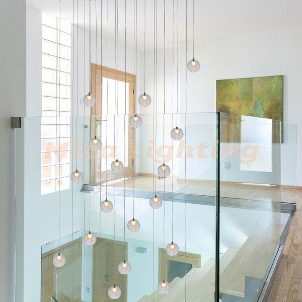 modern glass pendant lighting bocci ball light - Glass Pendant Lighting