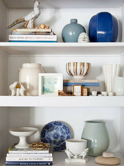 I love looking at the ways people style their shelves. - need to re-do my bedroom shelves