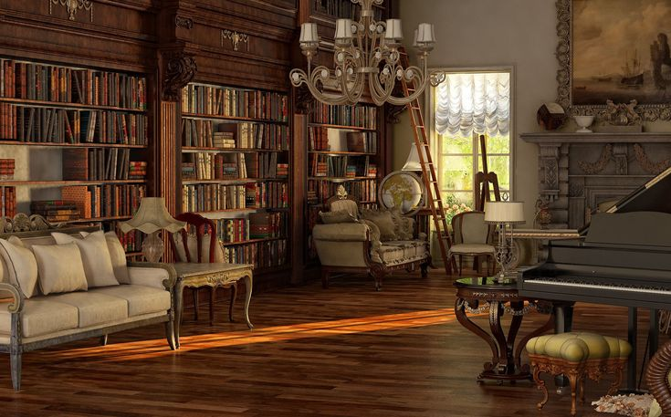 Interior Home Interior With Dark Gothic Victorian Styles Sweet Library And Living Room With