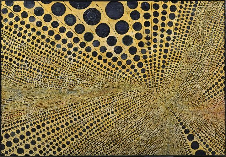 Minoru Onoda, Work 61-14, 1961; mixed media on plywood; 36.14 x 52.36 inches (photo © Estate of Minoru Onoda, courtesy of Anne Mosseri-Marlio Galerie)
