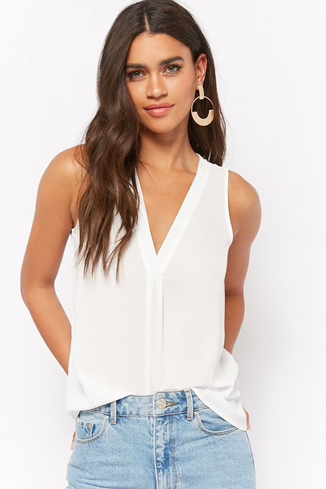 021cfc32c8851 Relaxed V-Neck Tank Top