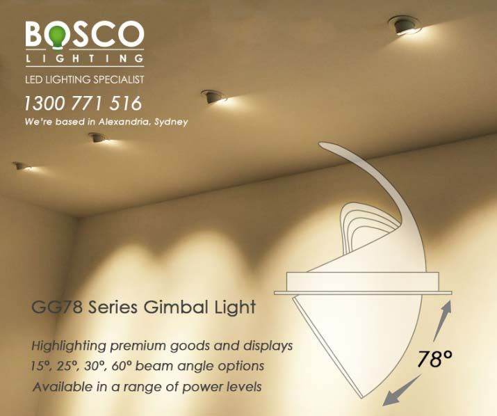 The GG78 Series is perfect for retail locations where a specific point requires more attention or to remove shadows. Our GG78 Series is to make products pop and attract customers, highlighting premium goods and displays. Available in a range of power levels, this product can also be used for art galleries and lighting wall hangings. Check it out:http://www.boscolighting.com.au/product-family/shop-light