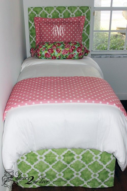 Preppy Floral Chic Designer Bed In A Bag Set    Custom Dorm Bedding, Custom  Teen Bedding, Custom Home Bedding, Custom Apartment Bedding