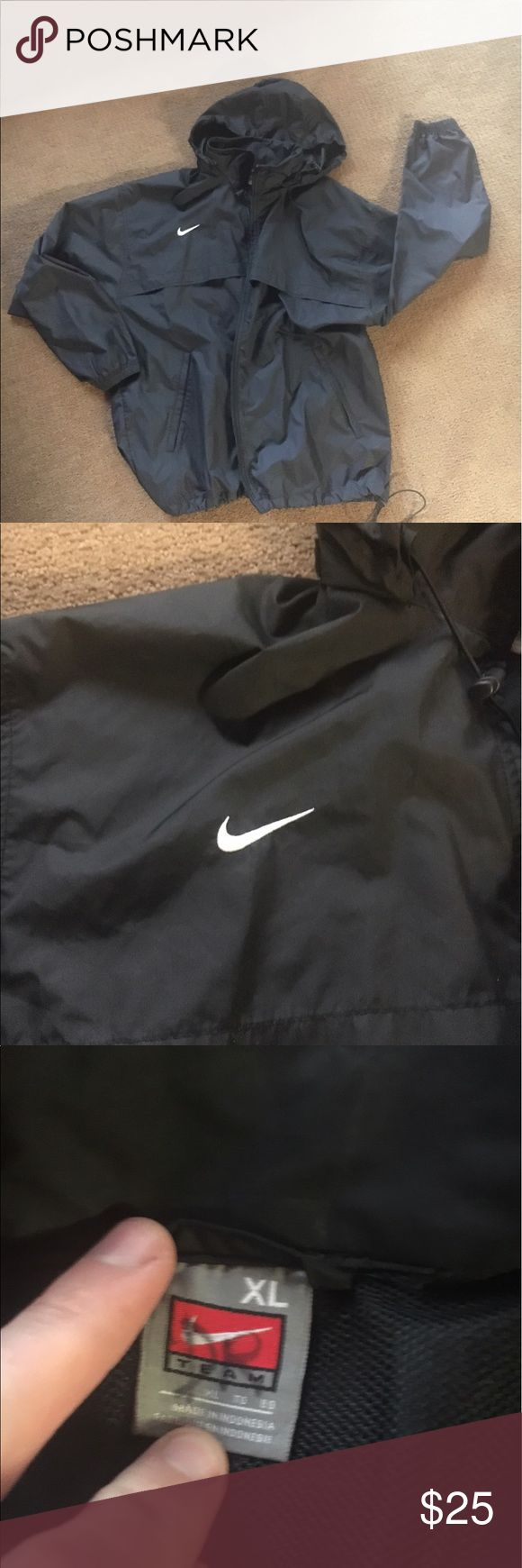 *MAKE OFFER* Men's Black Windbreaker XL Black windbreaker in great condition and at a great price. Wanting to sell quick. Nike Jackets & Coats Windbreakers
