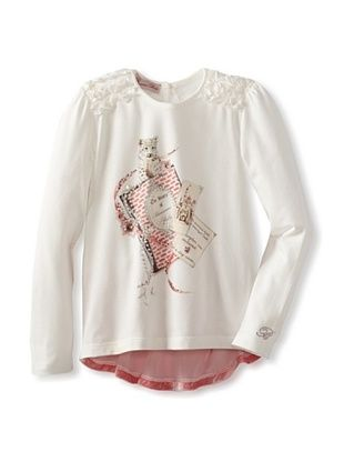 61% OFF Blumarine Girl's Tiger Tunic (White/Pink)