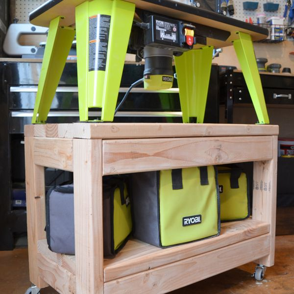 Ryobi Nation Rolling Router Table Diy Woodworking Woodworking