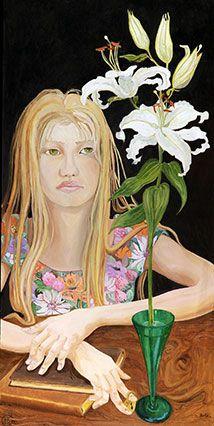 Barbara Gatti Cocci - Titolo - Innocenza - olio su tavola - cm 40 x 80 - anno 2012