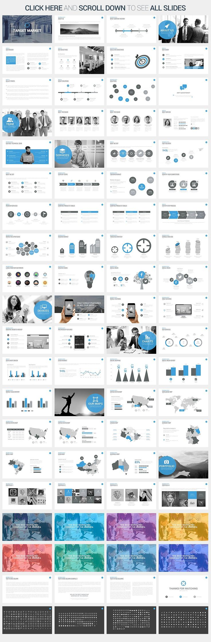 Target Market Powerpoint Template by SlidePro on @creativemarket