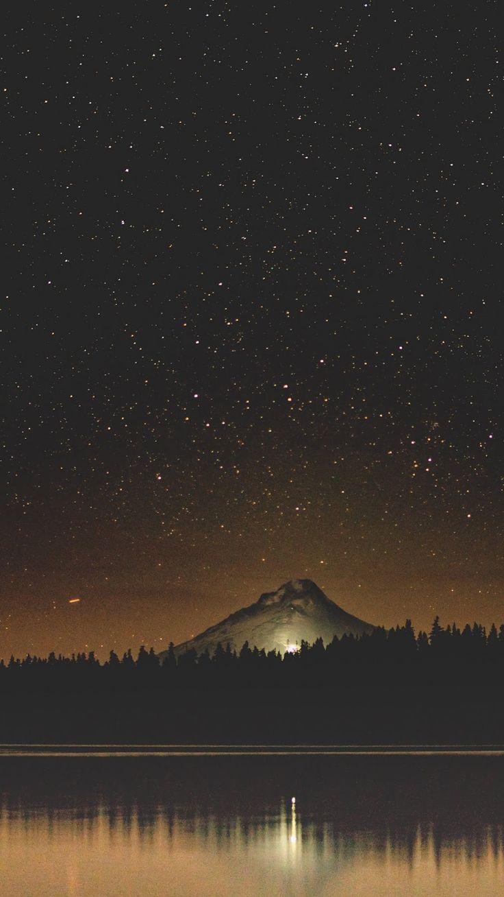 Темное звездное небо горы картинки вертикальные