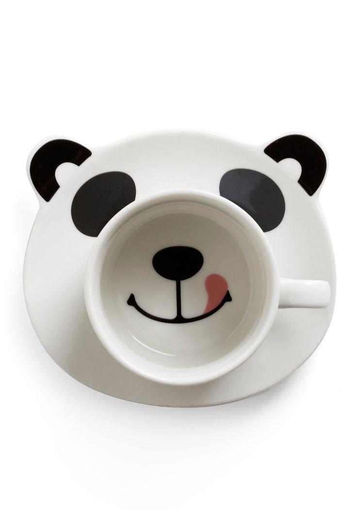 Panda smile mug set #product_design