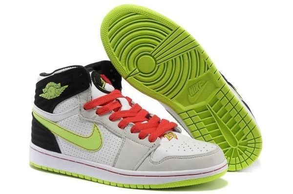 3341 Cheap Mens Air Jordan 1 Air Cushion Shoes White Black Red 40902