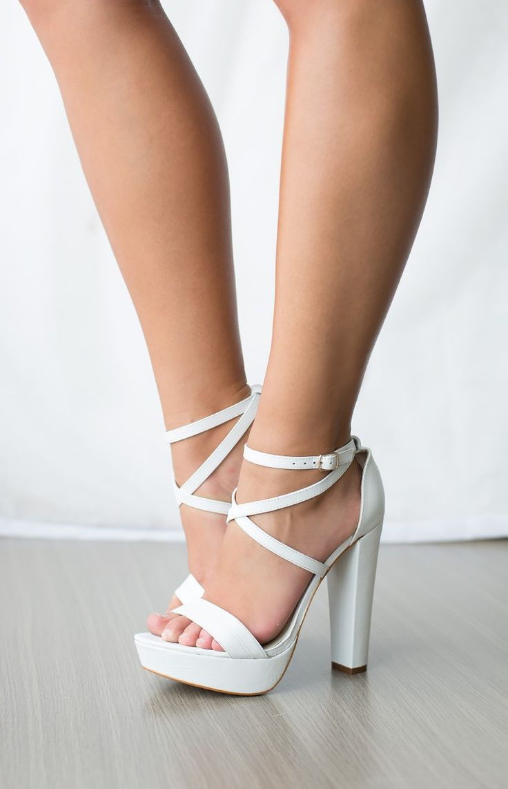 Windsor Smith Mariah Heels White | Beginning Boutique. Simple, stylish and sexy!!..
