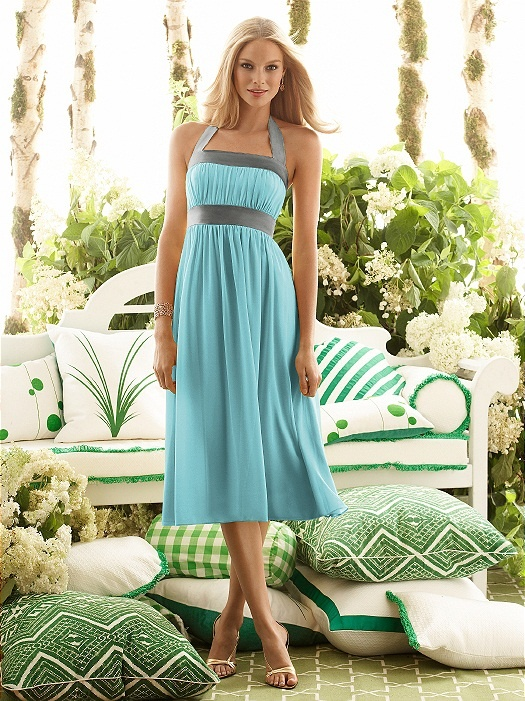 Bride's maid dress, not the color, but the style and length would be nice for a spring wedding