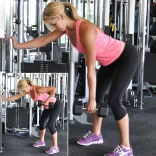 The Best Workout for Back Fat: Single-Arm Dumbbell Row - Back Workout Routine: 6 Strength Training Exercises to Burn Back Fat - Shape Magazine