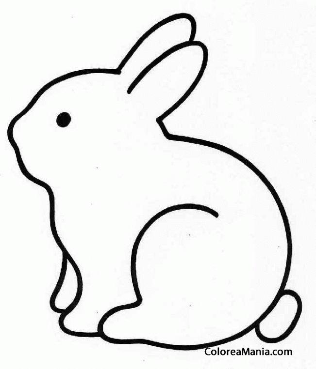 dibujos siluetas de animales | Colorear Conejo silueta (Animales de Granja), dibujo para colorear ...
