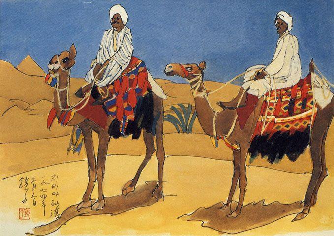리비아 사막 by Chun Kyung-ja (천경자,1924~2015), Korea Artist